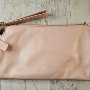 Naturalizer Women's Pink Leather Clutch Handbag